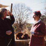 With Chantek and Lynn Miles at Atlanta zoo, Feb 2001