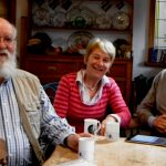 Susan Blackmore with Dan Dennett and Richard Dawkins