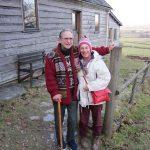 John Crook and Susan Blackmore at John's 80th birthday gathering, 30 January 2011